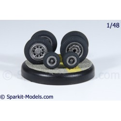 Mirage F1 Wheel Set - 1/48