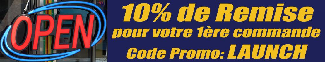 10% de Remise sur votre première commande!!!